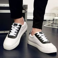 BINSHOU - Paneled Lace-Up Sneakers