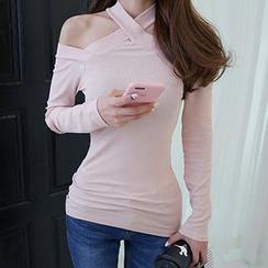 Wild Ivy - Halter Long-Sleeve T-Shirt