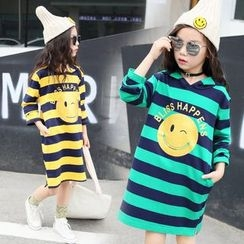 PAM - Kids Striped Hooded Dress