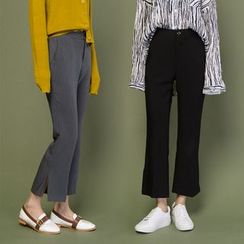 Heynew - Cropped Wide Leg Pants