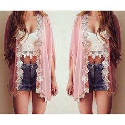 Dream a Dream - Floral Chiffon Batwing Light Jacket