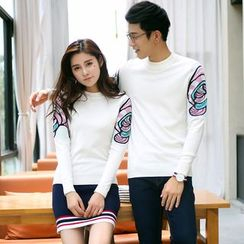 NoonSun - Couple Matching Knit Pullover