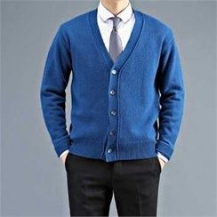 THE COVER - V-Neck Wool Blend Cardigan