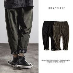 Newin - Loose-fit Embroidered Harem Pants