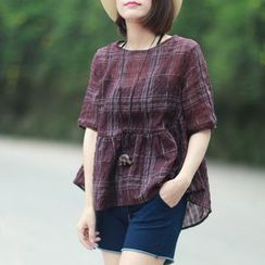 Ranche - Check Short-Sleeve Top