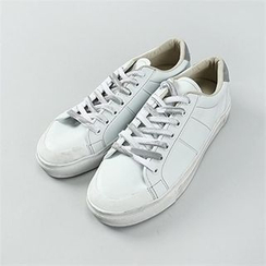 THE COVER - Faux-Leather Sneakers