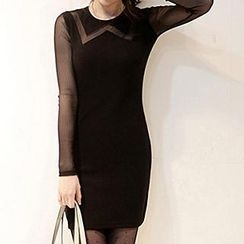 Only Eve - Mesh Panel Knit Dress