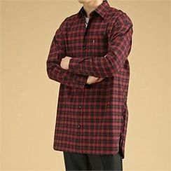 THE COVER - Pocket-Front Plaid Cotton Shirt