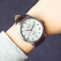 Crocosmia - Faux-Leather Strap Watch