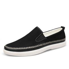 EnllerviiD - Faux-Leather Slip-Ons
