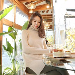 WITH IPUN - Turtleneck Knit Sweater