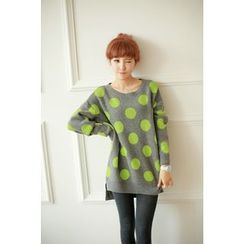 Chuvivi - Dotted Dip-Back Sweater