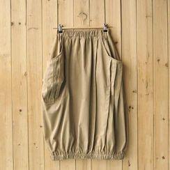 Rosadame - Asymmetric Pocket Midi Skirt