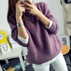 Qimi - Furry Thick Sweater