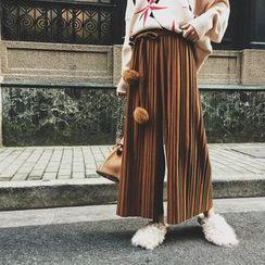 兰芝 - 风琴褶宽脚裤