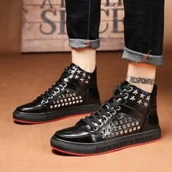 MARTUCCI - Studded High-Top Sneakers