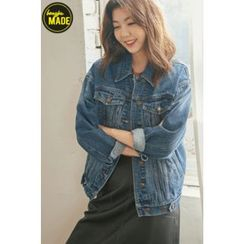 BONGJA SHOP - Stitched Denim Jacket