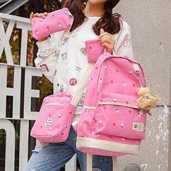 Tasche - Set : Clover Backpack + Shoulder Bag + Pouch + Wallet