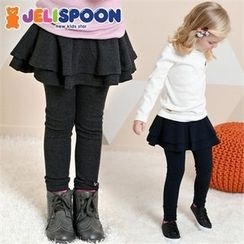 JELISPOON - Kids Inset Skirt Leggings
