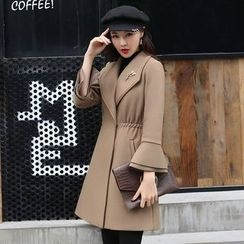 AiSun - Tie Waist Long Coat