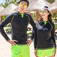 Sunset Hours - Couple Matching Rashguard / Beach Shorts