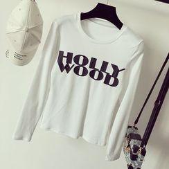 Honeydew - 长袖字母T恤