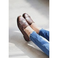 GOROKE - Round-Toe Fringed Loafers