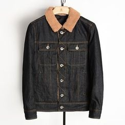 EDAO - Fleece Collar Denim Jacket