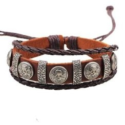 KINNO - Skull Leather Bracelet
