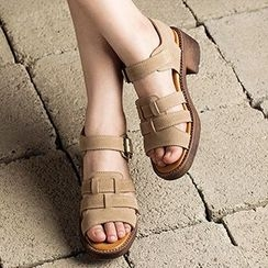 MIAOLV - Block Heel Strapped Sandals