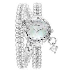 Periwinkle - Rhinestone Beaded Bracelet Watch