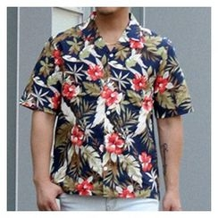Ohkkage - Short-Sleeve Printed Shirt