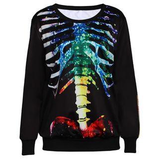 Omifa - Skeleton-Print Pullover