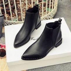 Pangmama - Paneled Ankle Boots