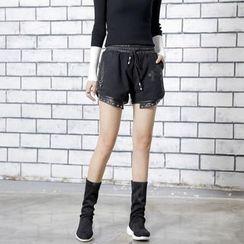 Sonne - Two-Tone Denim Shorts