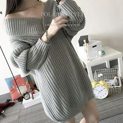 Polaris - V-Neck Long Sweater