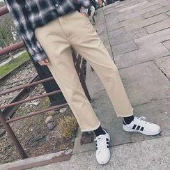 Besto - Cropped Wide Leg Pants