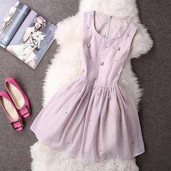 Rainbeam - Rhinestone Sleeveless Dress