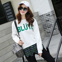 AiSun - Letter Fleece-lined Sweatshirt