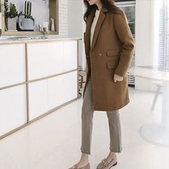 Hello sweety - Flap-Pocket Wool Blend Coat