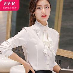 Eferu - Ruffle Front Shirt