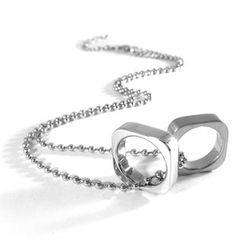 Kamsmak - Twin ring necklace