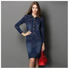 Elabo - Long-Sleeve Denim Dress