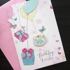 Lucky Cat - Birthday Greeting Card