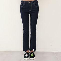 DANI LOVE - Cutout-Hem Boot-Cut Jeans