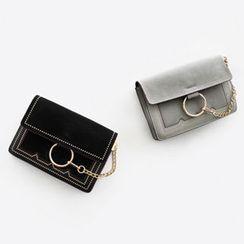 NIPONJJUYA - Hoop-Accent Studded Shoulder Bag