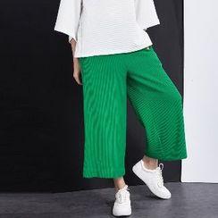 Halona - Wide-Leg Cropped Pants