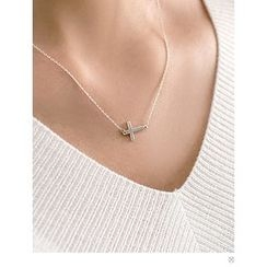 PINKROCKET - Cross-Pendent Necklace