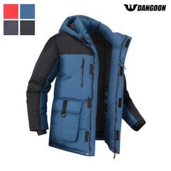 DANGOON - Color-Block Hooded Padded Parka