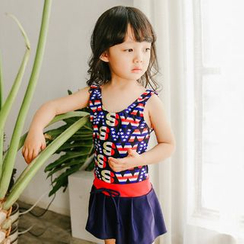 Goldlyre - Kids Lettering Swimsuit